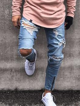 Fashion Skinny Men Ripped Jeans