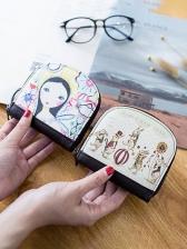 Cute Cartoon Printed Students Coin Purse