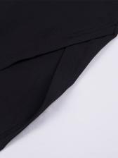 Sexy Solid Off Shoulder Slit Black Strapless Dress