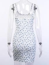 Euro Backless Floral Sleeveless Sheath Dress