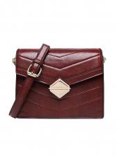 Vintage Solid Buckle Chain Shoulder Bag