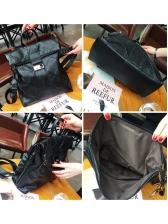 Black Buckle Strap Travel Backpack