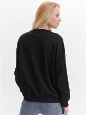 Human Face Printed Black Sweatshirts For Women