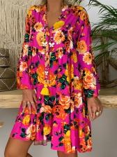 Hot Sale Loose Printed Casual Dresses