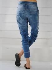 Denim Elastic Haren Long Pants