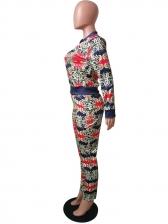 Stylish Printed Long Sleeve 2 Piece Pants Set