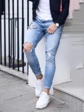 Stylish Skinny Men Distressed Jeans