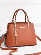 Trapezoidal Design Pendant Decor Ladies Handbags