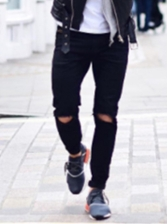 Stylish Slim Fit Ripped High Waisted Jeans