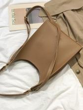 Minimalist Pu Detachable Belt Women Shoulder Bag