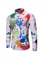 Individual Long Sleeve Graffiti Shirts For Men