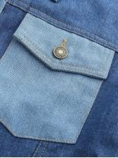 Denim Patchwork Short Ladies Coats