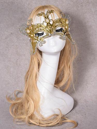 Halloween Golden Butterfly Dancing Mask
