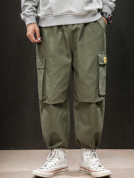 Fashion Solid Men Cargo Pants