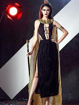 Halloween Ancient Queen Hollow Out Maxi Dress