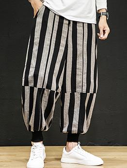 Active Plus Size Striped Linen Pants