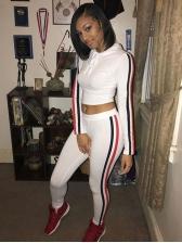 Side Striped Long Sleeve Ladies Sportswear