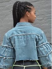 Hot Sale Patchwork Short Denim Jacket