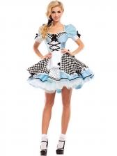 Halloween Ruffled Cosplay Apron Dress