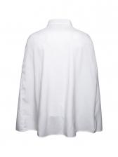 Individual High-Low Solid Cloak Design Shirt