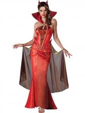 Halloween Devil Queen Maxi Dress
