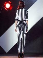 Halloween Clown Striped Ladies Suit