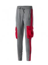 New Contrast Color Mens Pants