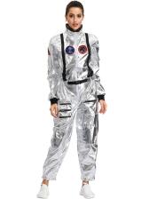 Halloween Astronaut Women Cosplay Ling Sleeve Jumpsuits