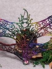 Colorful Halloween Night Club Keaton Mask