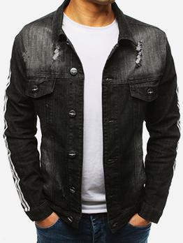 Slim Fit Pockets Black Winter Jacket
