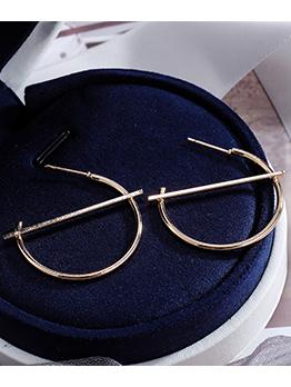 Simple Design Geometric C-shaped Large Ring Earrings