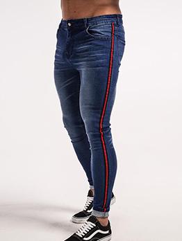 Casual Ribbon Decor Skinny Jeans
