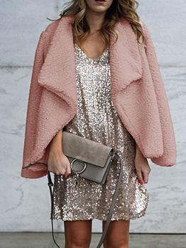 Hot Sale Solid Womens Winter Coats