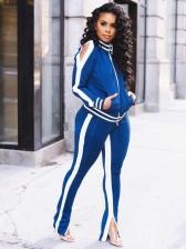 Sport Contrast Color Split Womens Activewear
