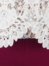 Off Shoulder Lace Panel Jumpsuits For Women