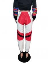Sporty Contrast Color Women Pants