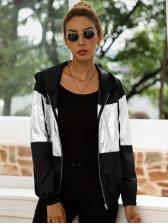Fashion Contrast Color Winter Coat