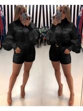 Solid Slim Fit Women Long Sleeve Romper