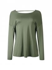 Chic Irregular Backless Women t Shirt
