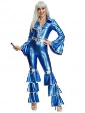 Blue DiscoBar Singer Jumpsuit Halloween Costumes