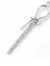 Stylish Bow Rhinestone Silver Earrings