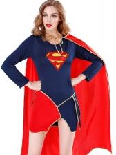 Halloween Dress With Cloak WomanWarrior Superhero Costumes
