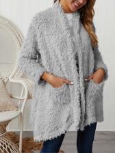 Plush Thicker Long Sleeve Womens Winter Coats