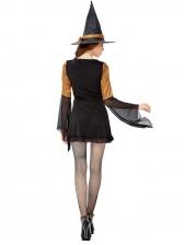 Halloween Gauze Patchwork Slip Dress Witch Costume