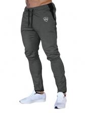 Sporty Drawstring Printed Jogger Pants