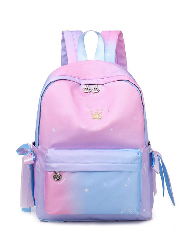 Graduated Color Printed Backpacks For Women