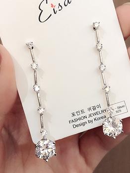 Chic Zircon Tassel Earrings For Women