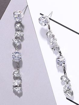Elegant Water Drop Shape Crystal Earrings For Women
