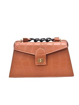 Vintage Style Stone Pattern Solid Large Shoulder Bag