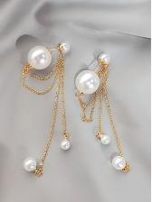 Vintage Pearl Tassel Dangle Earrings